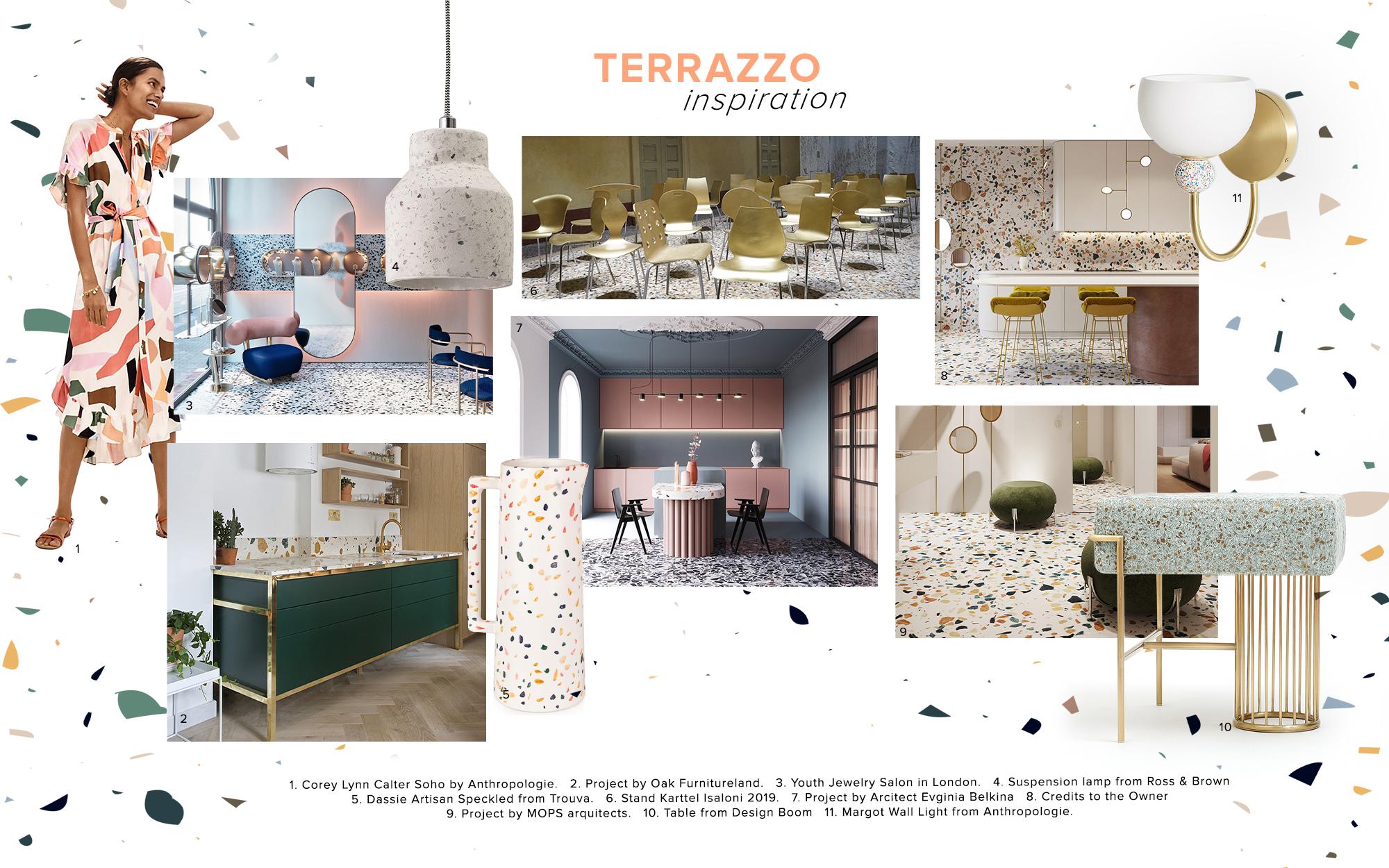 Moodboard Trends 2020 Terrazzo Trend Moodboards Trendbook