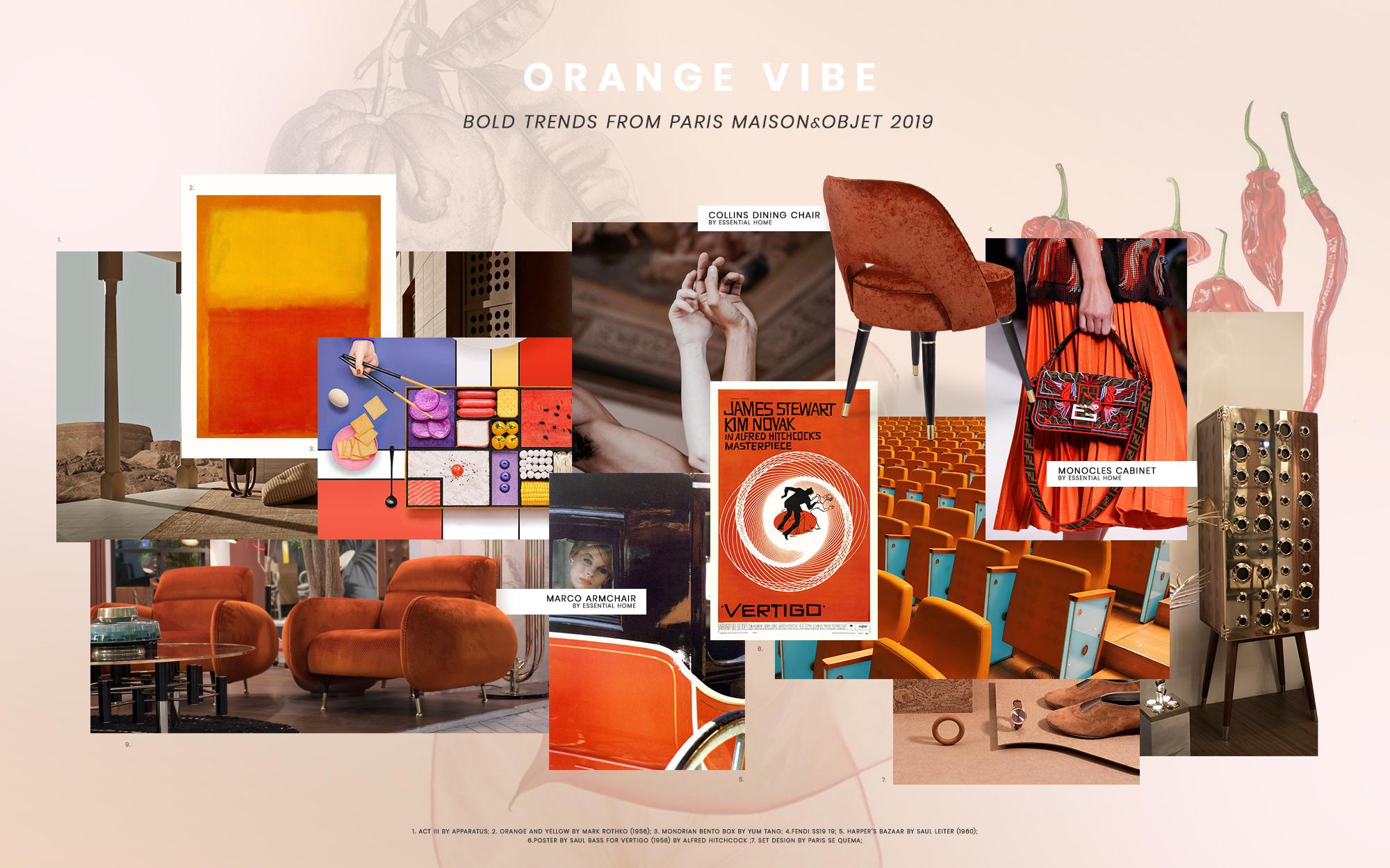 sape orange shweshwe moodboard - HD2000×1250