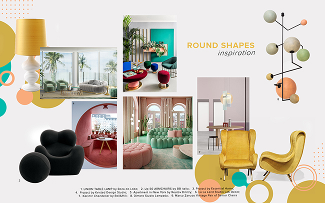 Moodboard Trends 2020 Curved Shapes