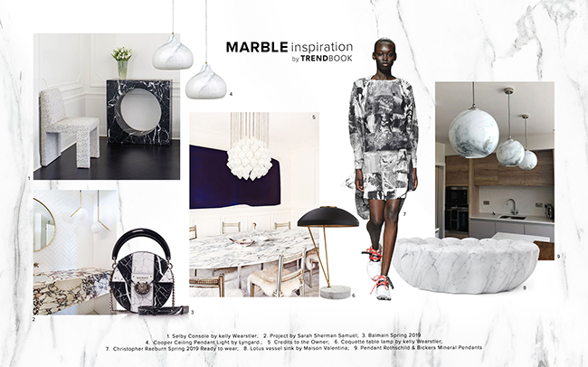 Moodboard Trends 2020 Marble