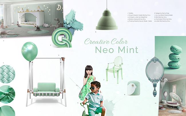 Kids Rooms | Color Trends Neo Mint