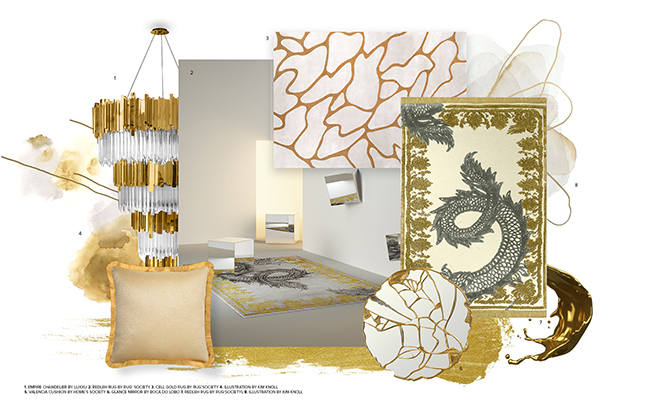 Moodboard Trends 2019 Gold & White