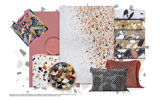 terrazzo Terrazzo Is The New Trend You Will Want To Follow  moodboard trends 2019 terrazzo