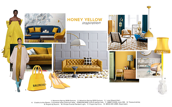 Moodboard Trends 2020 Honey Yellow