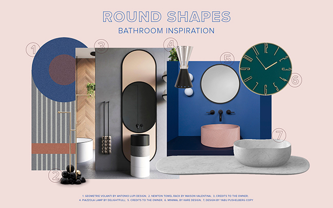 Rounded Shapes Inspiration Bathroom Trends