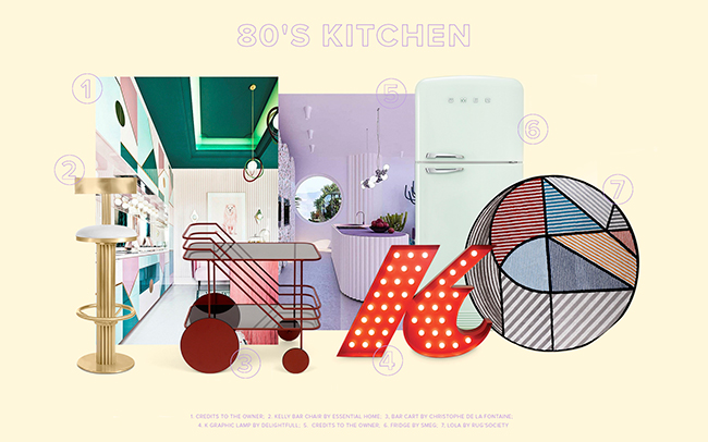 80's Inspiration Kitchen Trends