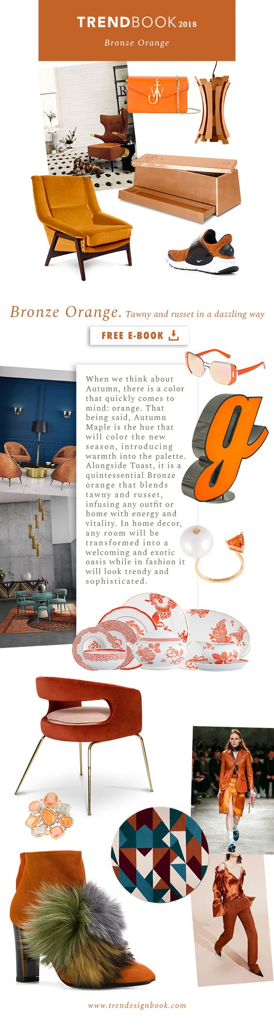 Color trends Fall/Winter 2017/18 Bronze Orange