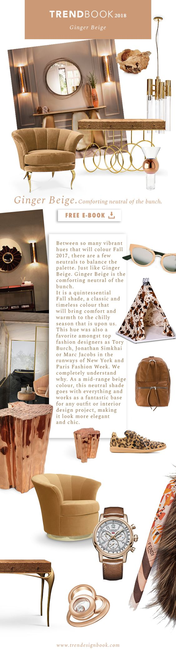Color trends Fall/Winter 2017/18 Ginger Beige