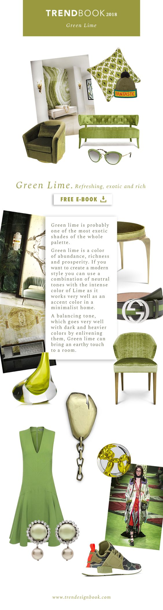 Color trends Fall/Winter 2017/18 Green Lime