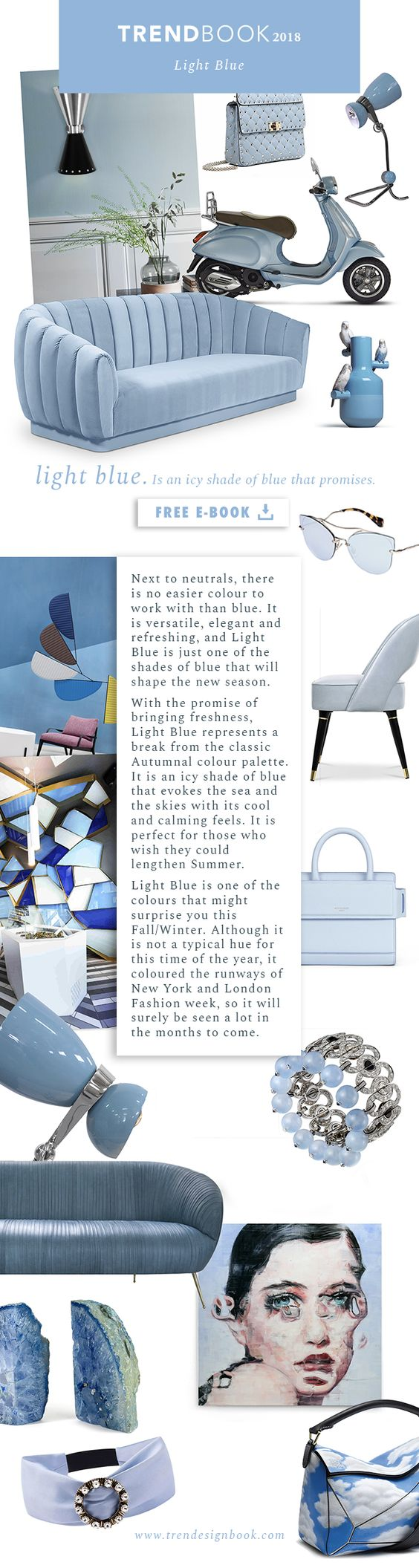 Color trends Fall/Winter 2017/18 Light Blue