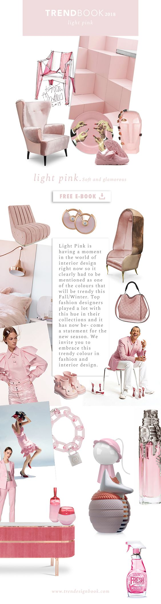 Color trends Fall/Winter 2017/18 Light Pink