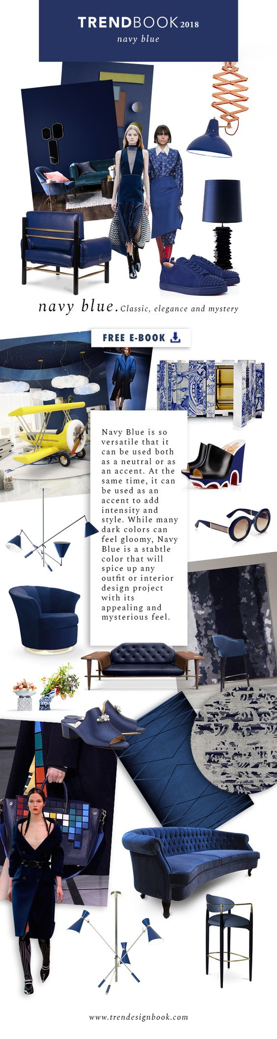 Color trends Fall/Winter 2017/18 Navy Blue