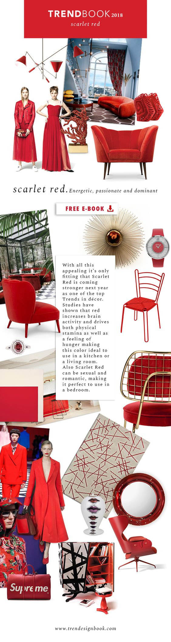 Color trends Fall/Winter 2017/18 Scarlet Red